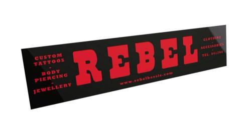 REBEL sign